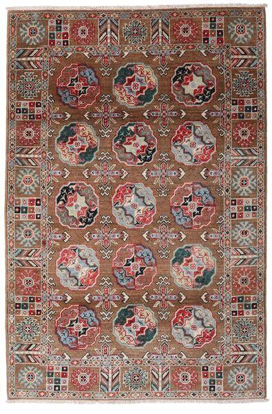 Kazak Tapis 117X176 D'orient Fait Main Rouge Foncé/Marron Foncé (Laine, Afghanistan)