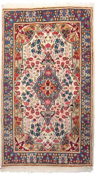 Kerman Tapis 87X152 D'orient Fait Main Gris Clair/Beige (Laine, Perse/Iran)