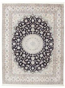 Naïn 6La Signé: Habibian Tapis 205X271 D'orient Fait Main (Laine/Soie, Perse/Iran)