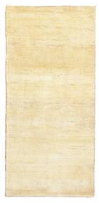 Gabbeh Persan Tapis 81X171 Moderne Fait Main Tapis Couloir Jaune/Beige (Laine, Perse/Iran)