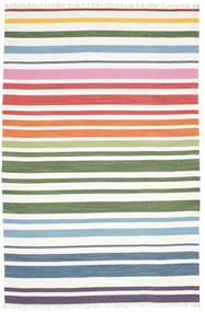 Rainbow Stripe - Blanc Tapis 200X300 Moderne Tissé À La Main Blanc/Crème (Coton, Inde)