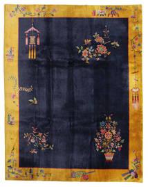 Chinois Antique: Art Deco 1920 Tapis 280X355 D'orient Fait Main Noir/Gris Foncé Grand (Laine, Chine)