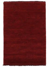 Handloom Fringes - Rouge Foncé Tapis 200X300 Moderne Rouge (Laine, Inde)