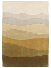 Feeling Handtufted - Marron Tapis 160X230 Moderne Beige Foncé/Vert Olive (Laine, Inde)