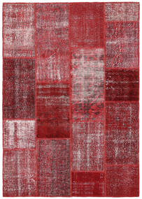 Patchwork Tapis 164X234 Moderne Fait Main Rouge Foncé/Violet (Laine, Turquie)