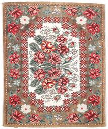 Kilim Rose Moldavia Tapis 177X213 D'orient Tissé À La Main Marron Clair/Marron Foncé (Laine, Moldavie)