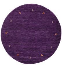 Gabbeh Loom Two Lines - Violet Tapis Ø 150 Moderne Rond Violet Foncé (Laine, Inde)