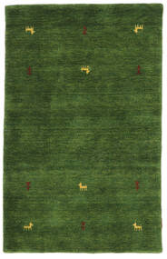 Gabbeh Loom Two Lines - Vert Tapis 100X160 Moderne Vert Foncé (Laine, Inde)