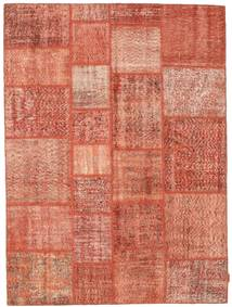 Patchwork Tapis 170X231 Moderne Fait Main Rose Clair/Rouge (Laine, Turquie)