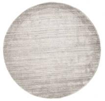 Bambou Soie Loom - Warm Gris Tapis Ø 150 Moderne Rond Gris Clair ( Inde)