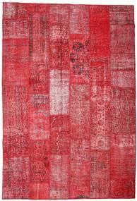 Patchwork Tapis 201X296 Moderne Fait Main Rouge/Rouille/Rouge (Laine, Turquie)