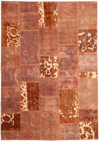 Patchwork Tapis 166X243 Moderne Fait Main Rouge/Rouge Foncé (Laine, Perse/Iran)
