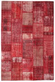 Patchwork Tapis 201X305 Moderne Fait Main Rouge/Rouille/Rouge (Laine, Turquie)