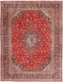 Kashan Tapis 315X420 D'orient Fait Main Rouge Foncé/Rouille/Rouge Grand (Laine, Perse/Iran)