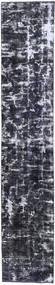 Colored Vintage Tapis 70X380 Moderne Fait Main Tapis Couloir Gris Foncé/Gris Clair (Laine, Perse/Iran)