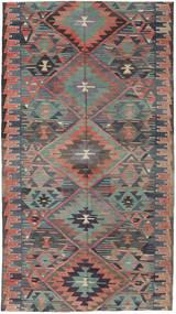 Kilim Turquie Tapis 163X292 D'orient Tissé À La Main Gris Foncé/Marron Clair (Laine, Turquie)