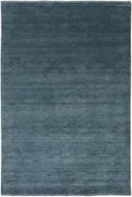 Handloom Fringes - Petrole Profonde Tapis 200X300 Moderne Bleu/Bleu Foncé (Laine, Inde)