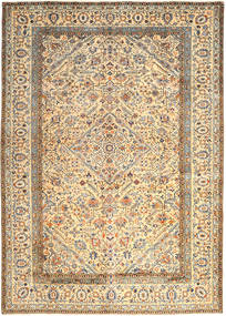 Kashan Tapis 296X410 D'orient Fait Main Beige/Beige Foncé Grand (Laine, Perse/Iran)
