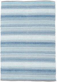 Wilma - Bleu Tapis 120X180 Moderne Tissé À La Main Bleu Clair/Beige (Coton, Inde)