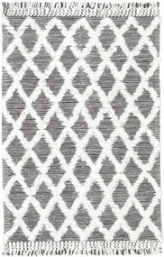Inez - Marron Foncé/Blanc Tapis 140X200 Moderne Tissé À La Main Gris Clair/Beige (Laine, Inde)