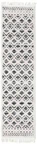 Royal - Noir/Cream Tapis 80X400 Moderne Tapis Couloir Gris Clair/Blanc/Crème ( Turquie)