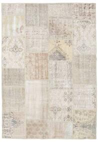 Patchwork Tapis 159X231 Moderne Fait Main Gris Clair (Laine, Turquie)