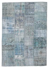 Patchwork Tapis 139X201 Moderne Fait Main Bleu Clair/Gris Clair/Bleu (Laine, Turquie)