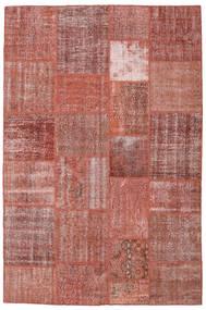 Patchwork Tapis 198X301 Moderne Fait Main Marron/Rouge Foncé (Laine, Turquie)