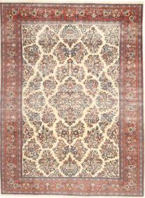 Sarough Patina Tapis 200X280 D'orient Fait Main Beige/Marron Foncé (Laine, Perse/Iran)
