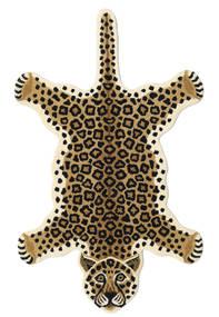 Leopard - Beige Tapis 100X160 Moderne Beige/Noir (Laine, Inde)
