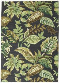 Jungel - Vert/Noir Tapis 160X230 Moderne Vert Foncé/Vert Clair/Gris Foncé (Laine, Inde)