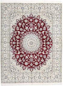 Naïn 9La Tapis 198X258 D'orient Fait Main Gris Clair/Beige (Laine/Soie, Perse/Iran)