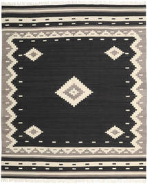 Tribal - Noir Tapis 250X300 Moderne Tissé À La Main Noir/Beige Grand (Laine, Inde)