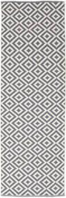 Torun - Gris/Neutral Tapis 80X250 Moderne Tissé À La Main Tapis Couloir Gris Clair/Violet Clair (Coton, Inde)