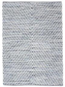 Hilda - Denim/Blanc Tapis 140X200 Moderne Tissé À La Main Beige/Bleu Clair (Coton, Inde)