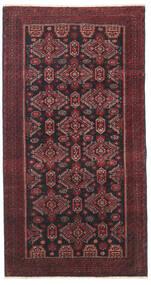 Baloutche Patina Tapis 95X177 D'orient Fait Main Rouge Foncé/Noir/Marron Foncé (Laine, Perse/Iran)