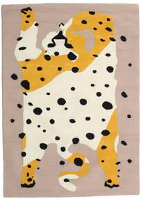 The Spotty Cat - Beige/Multi Tapis 100X160 Moderne Gris Clair/Beige (Laine, Inde)