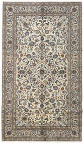 Kashan Tapis 145X253 D'orient Fait Main Gris Foncé/Gris Clair (Laine, Perse/Iran)