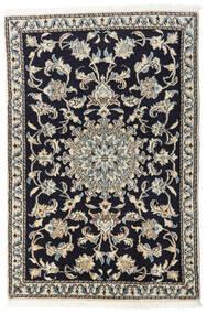 Naïn Tapis 90X135 D'orient Fait Main Bleu Foncé/Gris Clair/Gris Foncé (Laine, Perse/Iran)