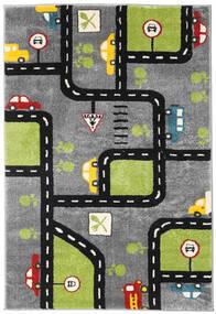 City Roads Tapis 120X180 Moderne Marron Foncé/Noir ( Turquie)