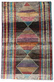 Moroccan Berber - Afghanistan Tapis 113X174 Moderne Fait Main Gris Foncé/Gris Clair (Laine, Afghanistan)
