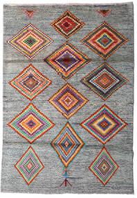 Moroccan Berber - Afghanistan Tapis 125X178 Moderne Fait Main Gris Clair/Gris Foncé (Laine, Afghanistan)