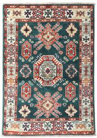 Kazak Tapis 87X126 D'orient Fait Main Bleu/Beige (Laine, Afghanistan)