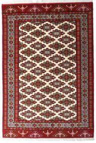 Turkaman Tapis 140X203 D'orient Fait Main Rouge Foncé/Beige (Laine, Perse/Iran)