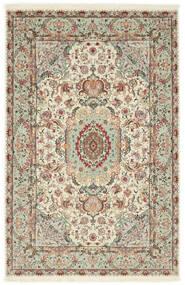 Tabriz 70 Raj Chaîne De Soie Tapis 100X152 D'orient Fait Main Gris Clair/Beige (Laine/Soie, Perse/Iran)