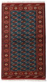 Turkaman Tapis 129X219 D'orient Fait Main Rouge Foncé/Noir (Laine, Perse/Iran)