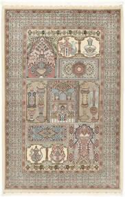 Ilam Sherkat Farsh Soie Tapis 148X223 D'orient Fait Main Gris Clair/Beige (Laine/Soie, Perse/Iran)