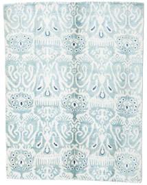 Sari Pure Soie Tapis 153X200 Moderne Fait Main Blanc/Crème/Bleu Clair (Soie, Inde)