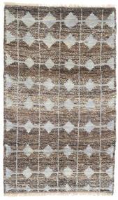 Moroccan Berber - Afghanistan Tapis 115X188 Moderne Fait Main Gris Clair/Gris Foncé (Laine, Afghanistan)