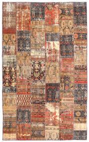 Patchwork - Persien/Iran Tapis 191X312 Moderne Fait Main Rouge Foncé/Marron (Laine, Perse/Iran)